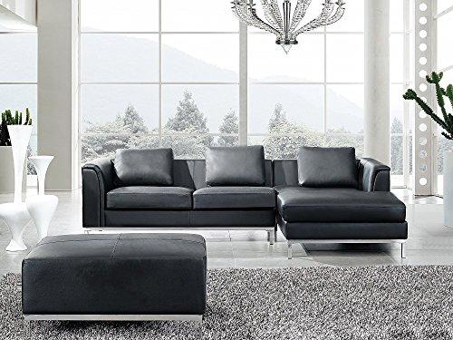 leder eckcouch schwarz. Black Bedroom Furniture Sets. Home Design Ideas