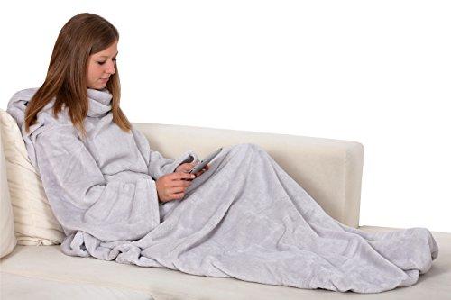 zollner kuscheldecke mit rmeln. Black Bedroom Furniture Sets. Home Design Ideas