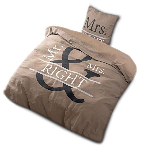 bettw sche mr mrs right. Black Bedroom Furniture Sets. Home Design Ideas