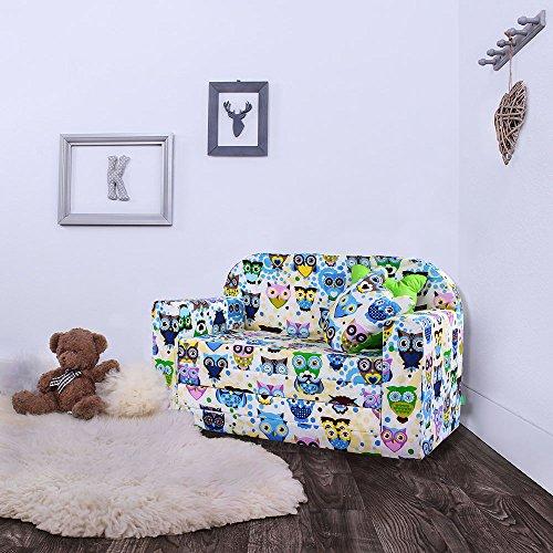kindersofa eulen mit bettfunktion. Black Bedroom Furniture Sets. Home Design Ideas
