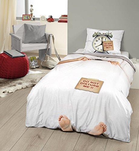 lustige bettw sche morgenmuffel. Black Bedroom Furniture Sets. Home Design Ideas