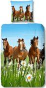 Bettwäsche Pferde-Motiv