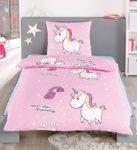 Bettwäsche Einhorn rosa