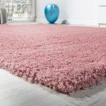 Shaggy Teppich Hochflor rosa