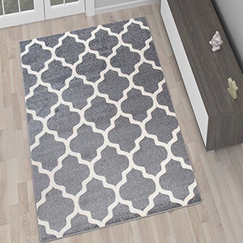 moderner designer teppich grau. Black Bedroom Furniture Sets. Home Design Ideas