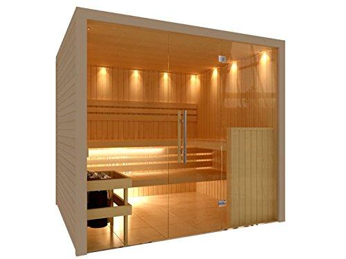 c quel royal sauna mit edler glasfront. Black Bedroom Furniture Sets. Home Design Ideas