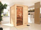 Massivholz Sauna