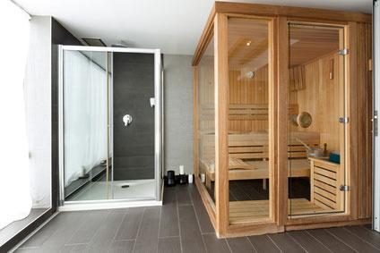 Saunalandschaft für zuhause