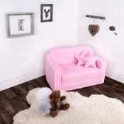 LULANDO Classic Sofa Bettfunktion rosa