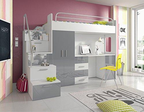 Kinderzimmer komplett hochbett  Furnistad - Hochbett SKY - Kinderzimmer Komplett