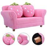Kindersofa mit 2 Kissen pink