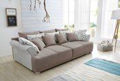 Big Sofa mit Rattan