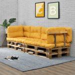 Kuscheliges Paletten-Sofa